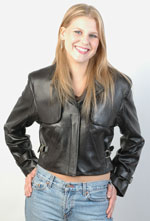 Amanda Ladies Aviation Leather Bomber Jacket