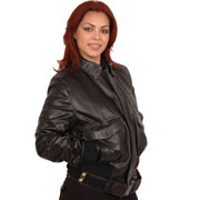 Ladies CP1 Leather Aviation Bomber Jacket in Deerskin