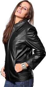 Ladies Short Leather Jackets Department