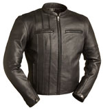 C293 Scooter Armor Leather Jacket